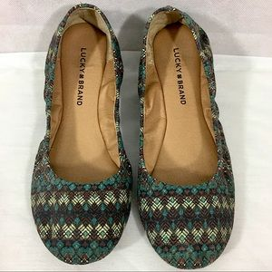 Lucky Brand Ballet Flat Shoes Like New Size 8M